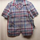 CITY BLUES by KORET Womens Blue Stripe S/S Top, Size: Small, NWT