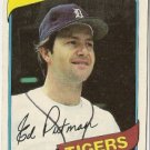"EDDY PUTMAN ""Detroit Tigers"" 1980 #59 Topps Baseball Card"