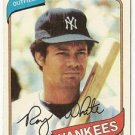 "ROY WHITE ""New York Yankees"" 1980 #648 Topps Baseball Card"