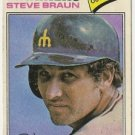 "STEVE BRAUN ""Seattle Mariners"" 1977 #606 Topps Baseball Card"