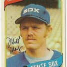 "MILT MAY ""Chicago White Sox"" 1980 #647 Topps Baseball Card"