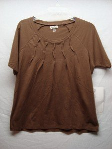ONQUE CASUALS Womens Brown Stretch Top (Size M) NWT