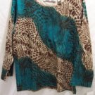 SARA STUDIO Women's Multi Color Top, SZ (Small),NWT