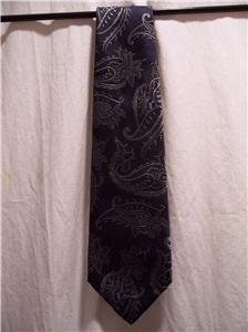 ZAN ZARA Dark Blue Dress Tie 100% SILK