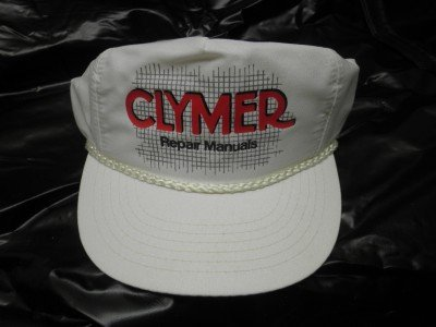 CLYMER REPAIR MANUALS White Ball Cap Multi-Fit