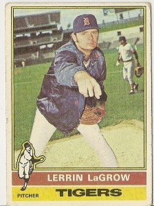 "LERRIN LaGROW ""Detroit Tigers"" #138 1976 Topps Baseball Card"
