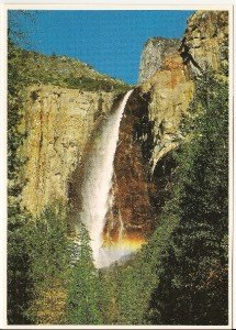 MISTY WATERS OF BRIDAL VEIL Post Card by Impact(1983)