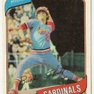 "BUDDY SCHULTZ ""St Louis Cardinals"" 1980 #601 Topps Baseball Card"