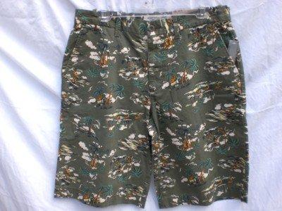 OLD NAVY~Mens Green 100% Cotton Khaki Shorts~SZ 29~NWT