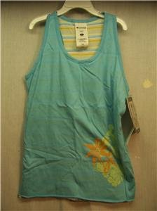COLUMBIA Girls Youth L Reversable Blue Tank Top, NWT