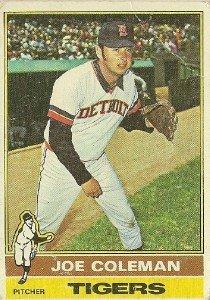 "JOE COLEMAN ""Detroit Tigers"" #456 1976 Topps Baseball Card"