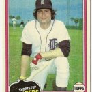 "MARK WAGNER ""Detroit Tigers"" 1981 #358 Topps Baseball Card"