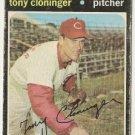 """TONY CLONINGER """"Cincinnati Reds"""" 1970/71 #218 Baseball Card"""