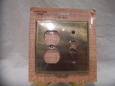 ANTIQUE BRASS FINISH Combo Cover Switch Plate, NIP