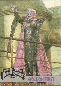 MIGHTY MORPHIN Power Rangers Card #128 Ooze On First