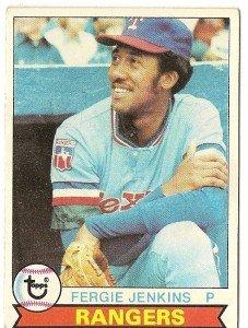 """FERGIE JENKINS """"Texas Rangers"""" 1979 #544 Topps Baseball Card"""
