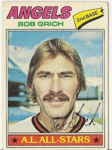 "BOB GRICH ""California Angels"" 1977 #521 Topps Baseball Card"