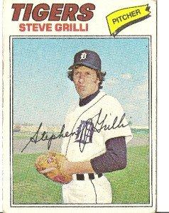 """STEVE GRILLI """"Detroit Tigers"""" 1977 #506 Topps Baseball Card"""