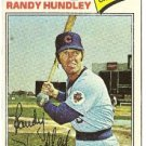 "RANDY HUNDLEY ""Chicago Cubs"" 1977 #502 Topps Baseball Card"