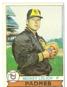 """MICKEY LOLICH """"San Diego Padres"""" 1979 #164 Topps Baseball Card"""
