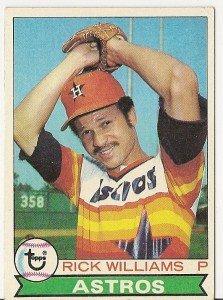 "RICK WILLIAMS ""Astros"" 1979 #437 Topps Baseball Card"