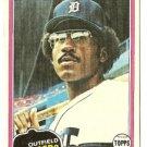 "AL COWENS ""Detroit Tigers"" 1981 #123 Topps Baseball Card"