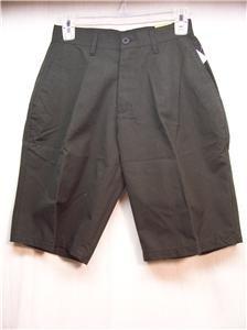 BURNSIDE VINTAGE Mens Size 24 Black Striped Shorts, New Item
