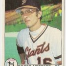 "ROGER METZGER ""San Francisco Giants"" 1979 #167 Topps Baseball Card"