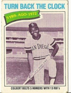 5 YEARS AGO - 1972, #433 1977 Topps Baseball Card