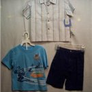 BUSTER BROWN Boy's Short/Shirts Set, Sz 3T,NWT(stripes)