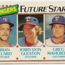 1980 TEXAS RANGERS FUTURE STARS #673 Topps Baseball Card