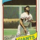 "PEDRO BORBON ""San Francisco Giants"" 1980 #627 Topps Baseball Card"