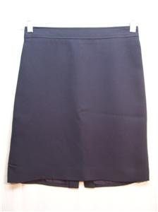 GUESS COLLECTION Women's Navy Blue Lined Skirt, Size: 8, Pre-Owned