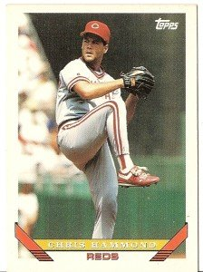 "CHRIS HAMMOND ""Cincinnati Reds"" 1993 #437 Topps Baseball Card"