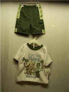 BUSTER BROWN Boy's Shorts/T-shirt Set, Size: 2T, NWT