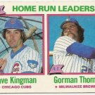 1979 National League/American League HOME RUN LEADERS  #202 Topps Baseball Card