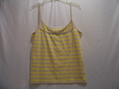 OLD NAVY Womens X-L Yellow/Tan Spaghetti Strap Top, NWT
