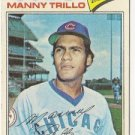 "MANNY TRILLO ""Chicago Cubs"" 1977 #395 Topps Baseball Card"