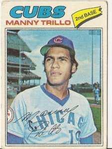 """MANNY TRILLO """"Chicago Cubs"""" 1977 #395 Topps Baseball Card"""