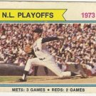 N.L. PLAYOFFS New York Mets: 3 Games*Cincinnati Reds 2 Games Baseball Card