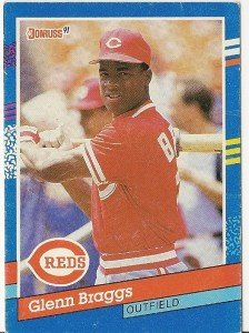 "GLENN BRAGGS ""Cincinnati Reds"" 1991 #253 Donruss Baseball Card"