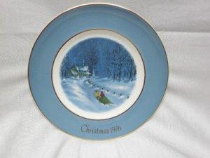 "1976 AVON Christmas Third Plate Series ""Bringing Home The Tree"""