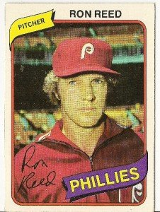"RON REED ""Philadelphia Phillies"" 1980 #609 Topps Baseball Card"