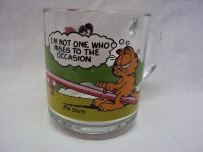 Garfield 1978/79/80 McDonald Coffee GLASS MUG