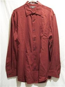 CEZANI Men's Burgandy L/S Dress Shirt, Size: Large, NWOT