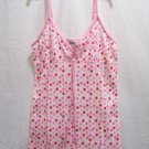 VANITY FAIR Women's Polka-Dot Spaghetti Top, Size: Medium,NWT