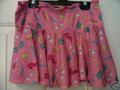 CLASSIC BLUES By WRANGLER GIRL'S Deco Pink SKIRT, Size: Large, NWT