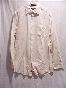 CEZANI Men's Cream L/S Dress Shirt, SZ M, NWOT