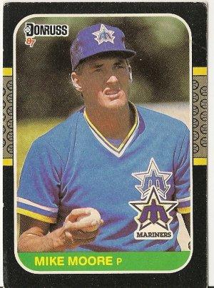 "MIKE MOORE ""Seattle Mariners"" 1987 #70 Donruss Baseball Card"