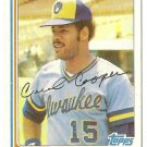"CECIL COOPER ""Milwaukee Brewers"" 1982 #675 Topps Baseball Card"